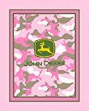 John Deere No Sew Fleece Throw Kit, Pink Camouflage