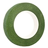 "DECORA 1/2"" Wide Dark Green Floral Tapes for Bouquet Stem Wrap Florist"