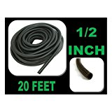 "Wire Loom Black 20' Feet 1/2"" Split Tubing Hose Cover Auto Home Marine"