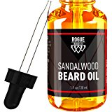 BEARD OIL SANDALWOOD by Rogue Beard Company 100% ORGANIC Beard Oil and Leave In Conditioner 1 oz