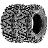 SunF All Trail A/T ATV UTV Tires 25x10-12 25x10x12 6 PR A033 (Set pair of 2)