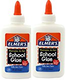 Elmer's Washable No-Run School Glue, 4 oz, 2 Bottles (E304)
