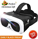 Sealegend VR Headset for 3D Videos Games Fit 6.0 Inches and Smaller iPhone Android Phones, Adjustable Focal Distance and Head Straps for Kids Adults Virtual Reality Headset VR Goggles Panda VR Box