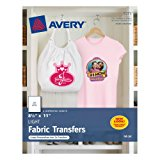 Avery T-shirt Transfers for Inkjet Printers, 8.5 x 11 Inches, for use with White or Light Colored Fabric
