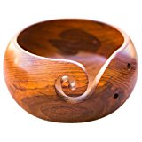 Wooden Yarn Bowl Holder Rosewood - Knitting Bowl With Holes Storage - Crochet Yarn Holder Bowl - Perfect For Mother's Day!