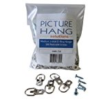D Ring Picture Hangers with Screws - Pro Quality d-rings - 100 Pack - Picture Hang Solutions