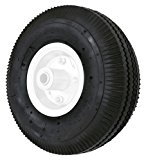 Shepherd Hardware 9634 4.10x10-Inch Pneumatic Replacement Tire, 10-Inch, Sawtooth Tread, 3-1/2-Inch Offset Hub, 5/8-Inch Axle Diameter, Ball Bearings