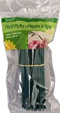 FloraCraft Floral Accessories Floral Picks, 120 6-Inch Green Floral Picks, Wired