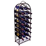Sorbus Wine Rack Stand Bordeaux Chateau Style - Holds 23 Bottles of Your Favorite Wine - Elegant Looking French Style Wine Rack to Compliment Any Space - No Assembly Required (Bronze)