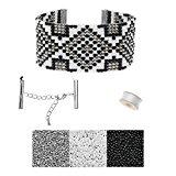 Refill - Gatsby Loom Bracelet - Silver - Exclusive Beadaholique Jewelry Kit