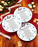 The Lakeside Collection Set of 3 Melamine Snowman Giving Plates