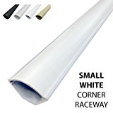 Small Corner Duct Cable Raceway (1075 Series) - 5 Feet - White