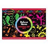 Melissa & Doug Deluxe Neon Scratch Art Set