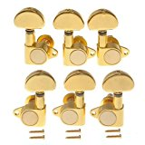 TStoy 1set 3l3r Grover - Style Tunning Pegs Tuners Machine Heads Gold High Quality