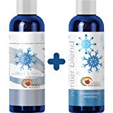 Natural Mint Shampoo and Conditioner Set for Women and Men with Pure Essential Oils for a Healthy Scalp Jojoba and Argan Oil Moisturizers Strengthen Dry Damaged Hair Reduce Frizz Promote Hair Growth