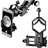 Landove Universal Smartphone Optics Digiscoping Adapter for Binoculars, Spotting Scopes, Telescopes, Monoculars-Adapter for iPhone7, SE, 6s, 6, 5, 5c, 5S, , S4, Note 4, Note 3 and others