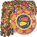"Roylco Mosaic Squares - 10000 Piece(s) - 0.4"" x 0.4"" - 10 / Pack ..."