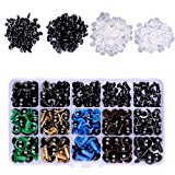 364 Pieces Colorful Plastic Safety Eyes Craft Eyes and Safety Noses 364 Pieces Washers for Doll, Puppet, Plush Animal Making