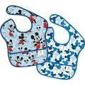 Mickey Newborn Baby Boy SuperBib 2 Pack, Multicolor