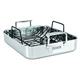 Viking 3-Ply Stainless Steel Roasting Pan with Nonstick Rack, 16 Inch by 13 Inch
