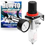 PointZero Pro Airbrush Air Compressor Regulator with Water-Trap Filter