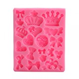 Generic Baking Molds Silicone Crown Fondant Mold Bow Candy Chocolate Molds