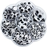 600 Pieces Mixed Self-adhesive Wiggle Googly Eyes DIY Scrapbooking Crafts Toy Accessories (Assorted Sizes)