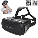 3D VR Glasses Headset with Adjustable Lens and Strap for 3.5 - 5.5-Inch Smart phones