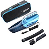 Car Vacuum Cleaner 【with Bright Led Light】,HOTOR 2 in 1 Powerful Wet/Dry DC 12V Handheld Portable Vacuum for Car(Blue)