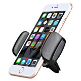 Car Phone Holder, AEDILYS Air Vent Car Mount Phone Holder with 360° Rotation for iPhone 8 / 7/7 Plus/6S/6 Plus 5S SE, Samsung Galaxy S7/S6 edge/S6/S8 (Black)
