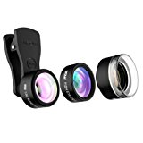 Mpow Mlens 3 in 1 Clip-On Lens, Fisheye+0.36X Wide Angle Lens Kit for iPhone 7& Android Phones