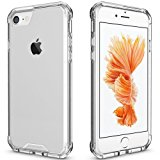 iPhone 7 Case Clear, iPhone 8 Case, Pajuva PC+TPU Transparent Case for iPhone 7/8 Clear Case With Bumper (Clear)