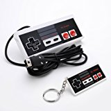 NES Classic Mini Edition Controller,NES Gamepad With 6ft /1.8m Cable For Nintendo Mini NES Classic Edition, Including Cute NES Controller Keyring By HL Global