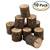 OULII Wedding Place Wooden Card Holders Table Number Stands for Home Party Decorations Pack of 10
