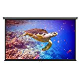 """VonHaus 100 Inch Projector Screen - Manual Pull Down - 100"""" Widescreen Indoor Home Theater / Cinema Platform - 16:9 Aspect Ratio Projection Screen - Suitable For HDTV / Sport / Movie / Gaming"""
