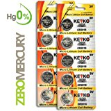 CR2016 Battery 3V Lithium Coin Cell Battery Type 2016 / DL2016 / ECR2016 Genuine KEYKO ® Supreme High Energy™ - 10 pcs Pack