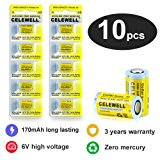 4LR44 Dog Collar Battery Special High Capacity 170mAh 6V Alkaline 4A76 A544 CELEWELL Brand 10 Count
