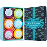 Bath Bombs, 6 Large Birthday Christmas Anniversary Gifts for Families Lover Friends Women - Natural Organic Relaxation Bath Fizzies With added Detox Ability by PURENJOY