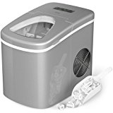 hOmeLabs Portable Ice Maker Machine for Counter Top - Makes 26 lbs of Ice per 24 hours - Ice Cubes ready in 6 Minutes - Electric Ice Making Machine with Ice Scoop and 1.5 lb Ice Storage - Silver