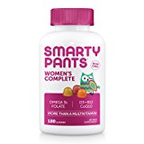 SmartyPants Women's Complete Gummy Vitamins: Multivitamin, CoQ10, Folate (Methylfolate), Vitamin K2, Vitamin D3, Biotin, Methyl B12, & Omega 3 DHA/EPA Fish Oil, 180 count (30 Day Supply)