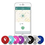 TrackR pixel - Bluetooth Tracking Device. Item Tracker. Phone Finder. iOS/Android Compatible - Black/Gray/White/Blue/Red/Aqua/Purple/Pink (8 Pack)