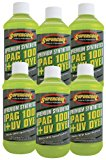 TSI Supercool P100-8D-6CP 100 PAG Viscosity Oil Plus U/V Dye, 8 oz, 6 Pack