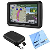 "Garmin dezl 570LMT 5"" Truck GPS Navigation Lifetime Map/Traffic Updates Case Bundle"