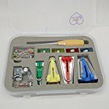 HONEYSEW Bias Tape Maker 6MM 12MM 18MM 25MM With Binder foot Bradawl Quilting Clips Sewing Pins Kit (BTM-S2)
