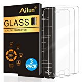 iPhone 8 iPhone 7 Screen Protector,[4.7inch][3 Pack]by Ailun,2.5D Edge Tempered Glass for iPhone 7/ 8,Case Friendly,Siania Retail Package