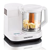 Baby Brezza Glass Baby Food Maker - Steamer and Blender - Process Baby Food For Pouches in Glass Bowl - Make Organic Food for Infants and Toddlers From Fruits, Vegetables, and Meats – 4 Cup Capacity