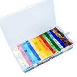Resinta 300 g/ 500 Pieces Mixed Color Mosaic Tiles Mosaic Glass Pieces with Organizing Container for Home Decoration or DIY Crafts, Square, 1 by 1 cm
