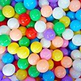 ELENKER 300pcs 5.5cm Colorful Ball Soft Plastic Ocean Ball for Baby Kid