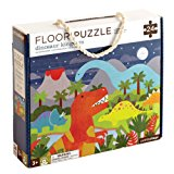 Petit Collage Floor Puzzle, Dinosaur Kingdom, 24 pieces
