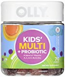 OLLY Kids Multi-Vitamin and Probiotic Gummy Supplements, Yum Berry Punch, 70 Count